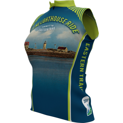 Maine Lighthouse Ride 2018 + Womens Sleeveless REC Cycling Jersey (ORDER UP IF WANT LOOSER)