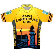Maine Lighthouse Ride 2020 Mens Cycling Jersey (ORDER UP IF WANT LOOSER)