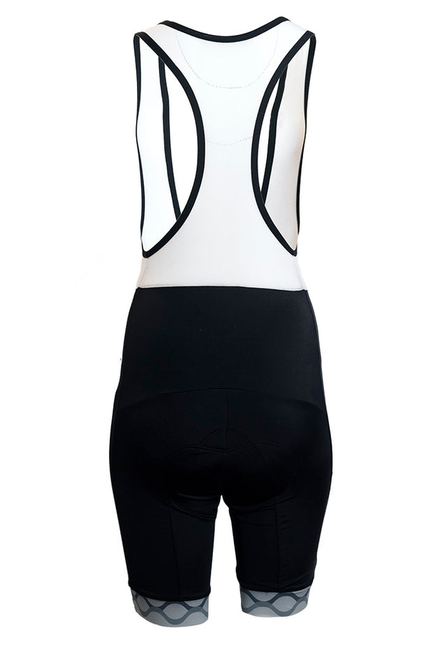 Mens Bib Shorts - Grey Accent