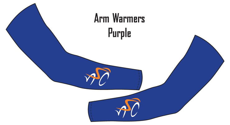 North Shore Cyclists Purple Arm Warmers