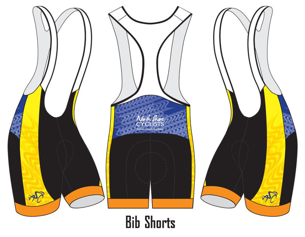 North Shore Cyclists Cycling Bibs