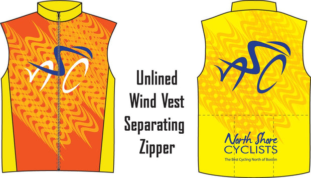 North Shore Cyclists Unlined Wind Vest