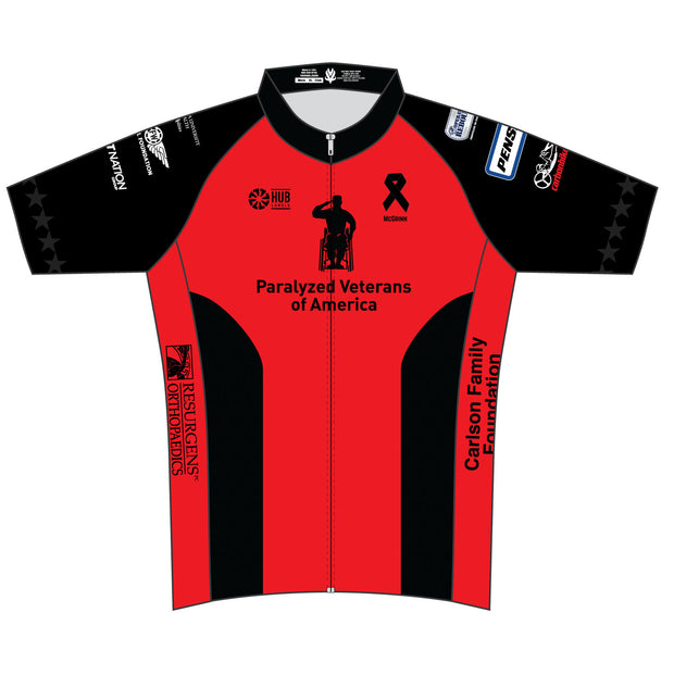Paralyzed Veterans Club Cut Short Sleeve Cycling Jersey