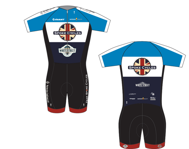 Spoke Cycles Short Sleeve Skinsuit with Tri Pad