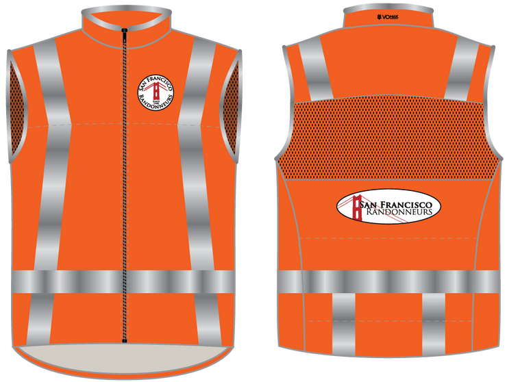 San Francisco Randonneurs Team Vest – Orange