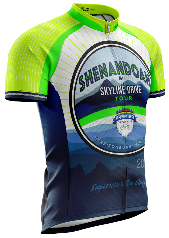 Shenandoah Skyline Drive Tour Elite Cut Short Sleeve Cycling Jersey