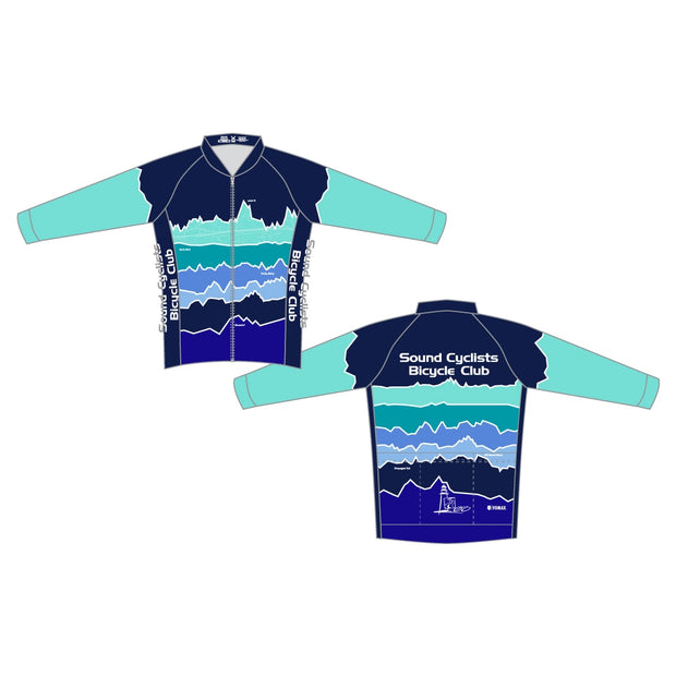 Sound Cyclists Club Members' Long Sleeve Cycling Jersey
