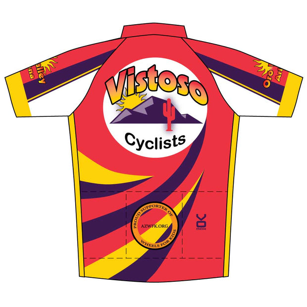 Vistoso Men's Race Cut Short Sleeve Cycling Jersey