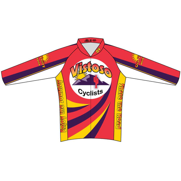 Vistoso Men's Club Cut Long Sleeve Cycling Jersey