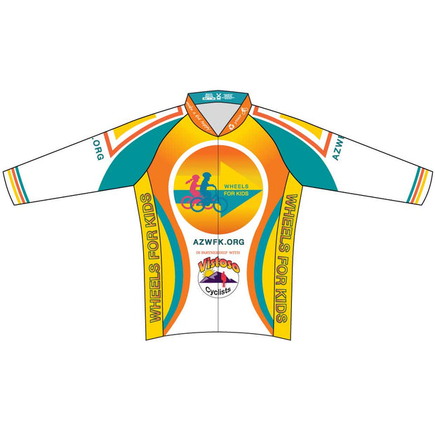 Womens Club Cut Long Sleeve Wheels for Kids Jersey