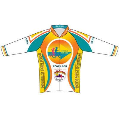 Mens Race Cut Long Sleeve Wheels for Kids Jersey