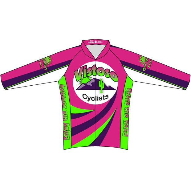 Vistoso Women On Wheels Club Cut Long Sleeve Cycling Jersey