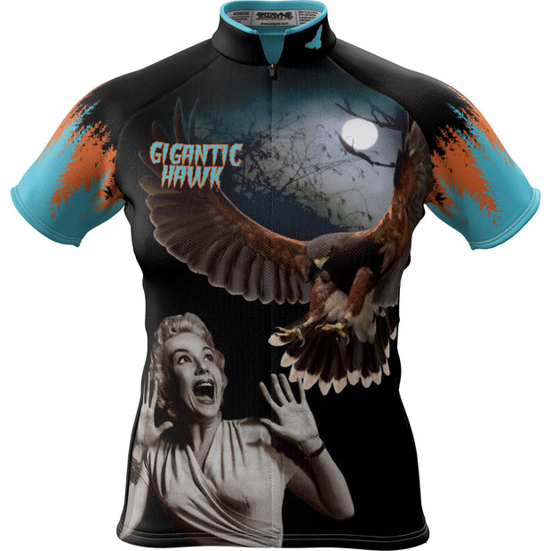 Gigantic Hawk B Movie + Womens REC Cycling Jersey