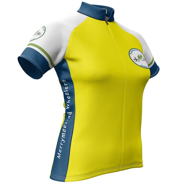Womens Merrymeeting Wheelers Cycling Jersey - Yellow