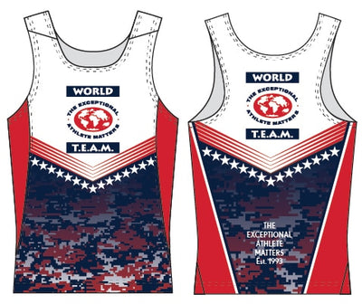 World T.E.A.M. Sports Running Singlet