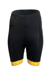 Womens Elite Shorts - Yellow Accent