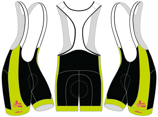 YSC Tour de Pink Cycling Bibs-Lime Green