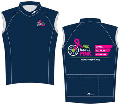 YSC Tour de Pink Sleeveless Cycling Jersey-Blue