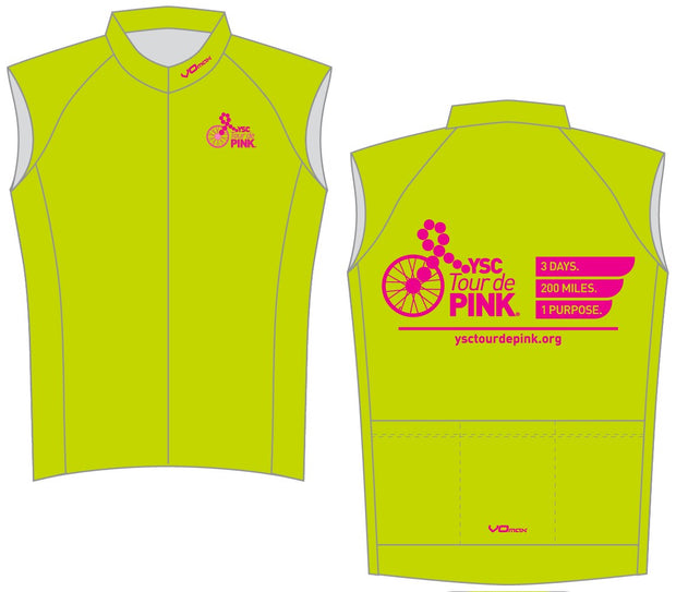 YSC Tour de Pink Sleeveless Cycling Jersey-Lime Green