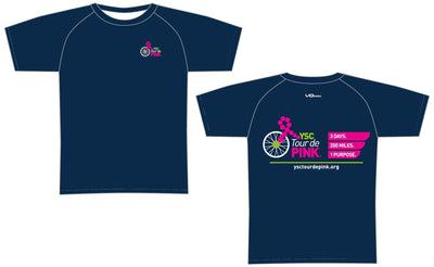 YSC Tour de Pink Short Sleeve Elite Tee-Blue