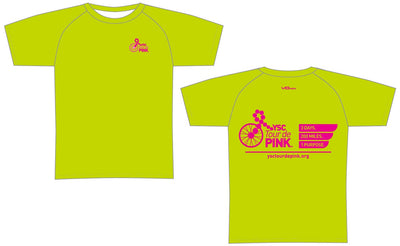 YSC Tour de Pink Short Sleeve Elite Tee-Lime Green