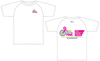 YSC Tour de Pink Short Sleeve Elite Tee-White