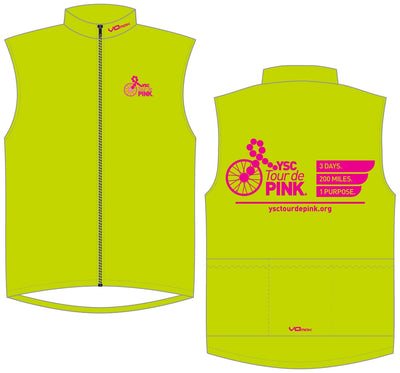 YSC Tour de Pink Unlined Wind Vest-Lime Green