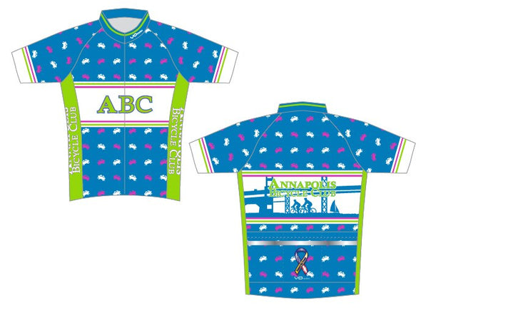 Womens Annapolis Bicycle Classic Race Short Sleeve Cycling Jersey