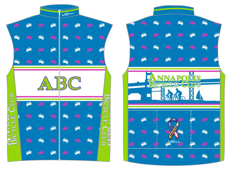 Annapolis Bicycle Club Unlined Wind Vest
