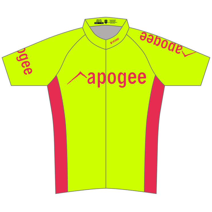 Apogee Adventures Hi-Vis RACE Cut Short Sleeve Cycling Jersey