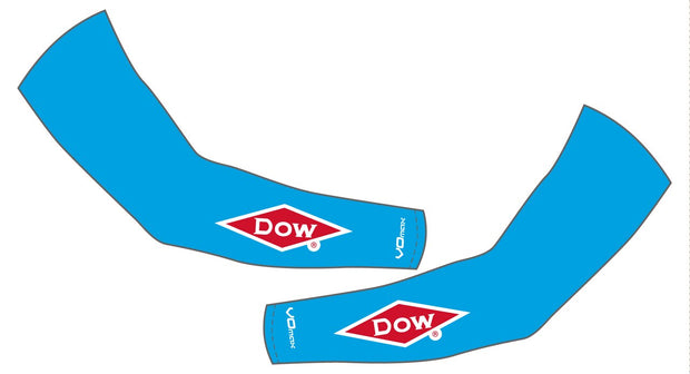 Team Dow Michigan Arm Warmers-Blue