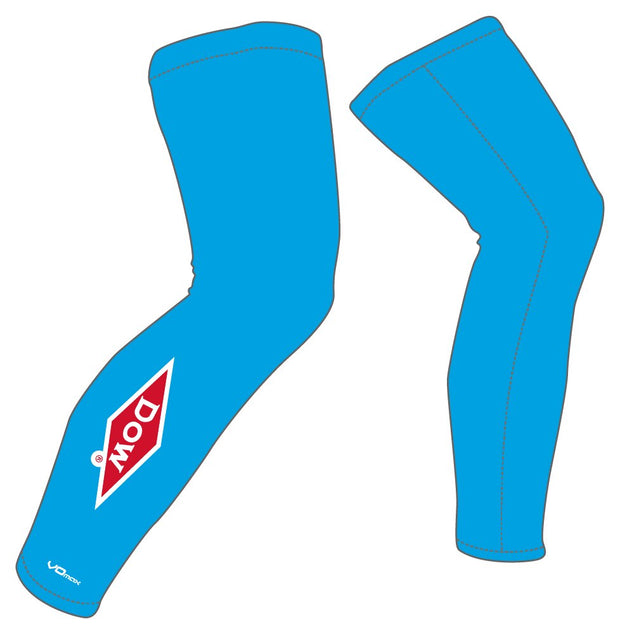Team Dow Michigan Leg Warmers-Blue