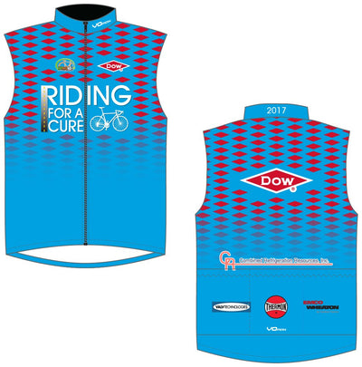 Team Dow Texas Unlined Wind Vest-Blue