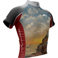 Cadillac Mountain Sports Landscape + Mens Cycling Jersey