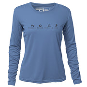 Reduce Reuse Recycle Run + Womens Long Sleeve REC T