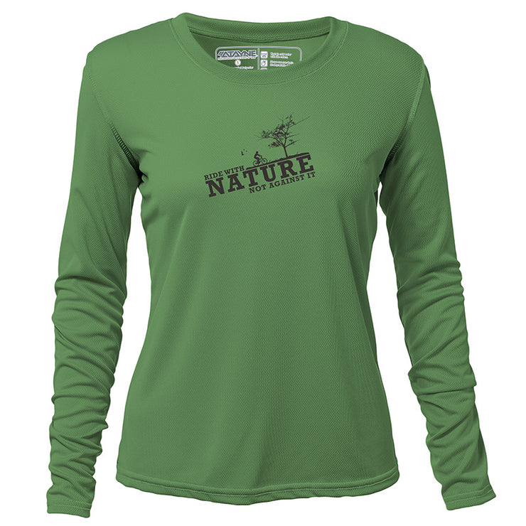 Ride with Nature + Womens Long Sleeve REC T