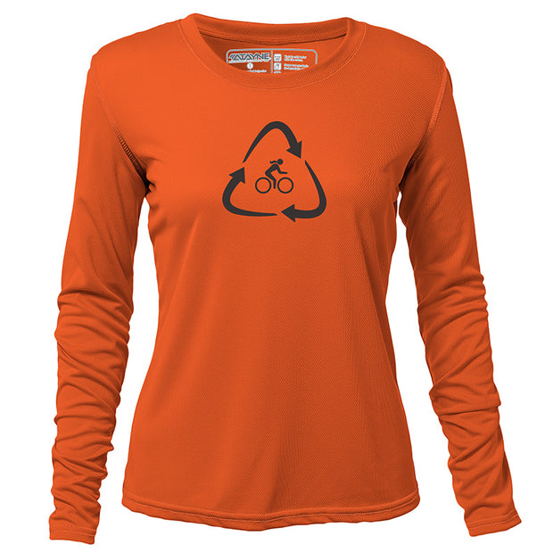 Recycled Rider + Womens Long Sleeve REC T