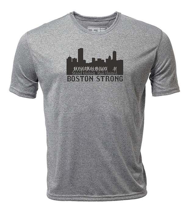 Boston Strong + Men's Short Sleeve Hybrid T