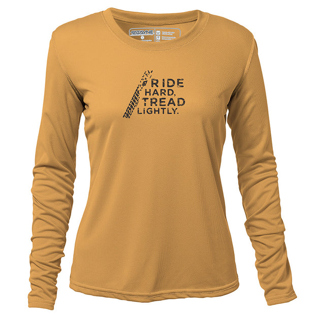 Ride Hard Tread Lightly + Womens Long Sleeve REC T