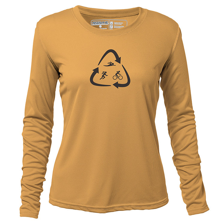 Recycled Tri + Womens Long Sleeve REC T
