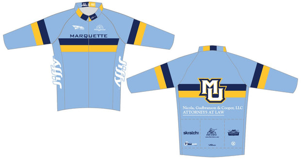 Marquette Long Sleeve Race Cut Thermal Cycling Jersey