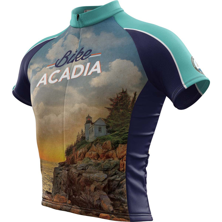 Acadia National Park + Mens Short Sleeve REC Cycling Jersey
