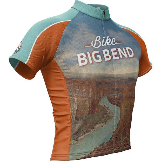 Big Bend National Park + Mens Short Sleeve REC Cycling Jersey