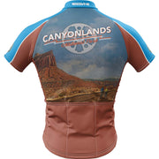 Canyonlands National Park + Mens Short Sleeve REC Cycling Jersey