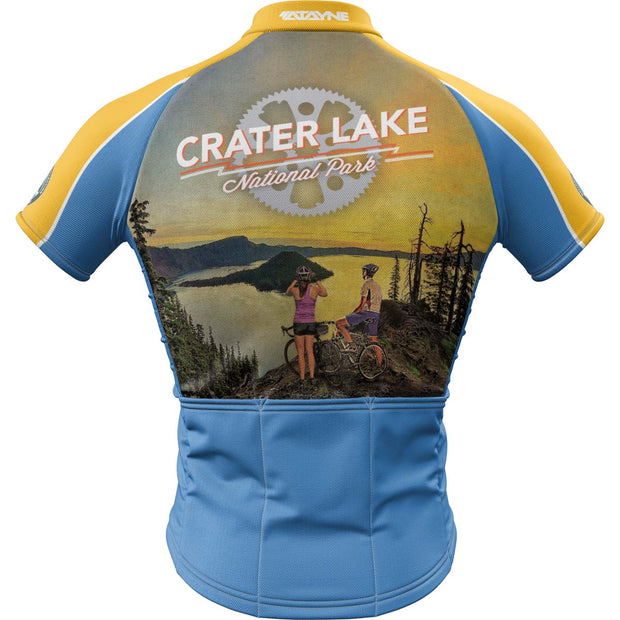 Crater Lake National Park + Mens Short Sleeve REC Cycling Jersey