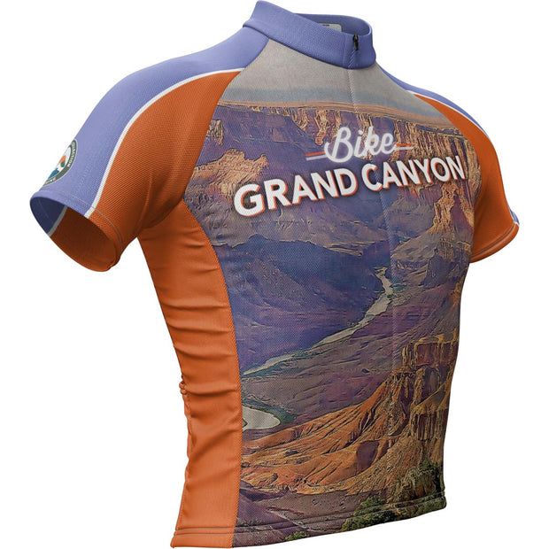 Grand Canyon National Park + Mens Short Sleeve REC Cycling Jersey