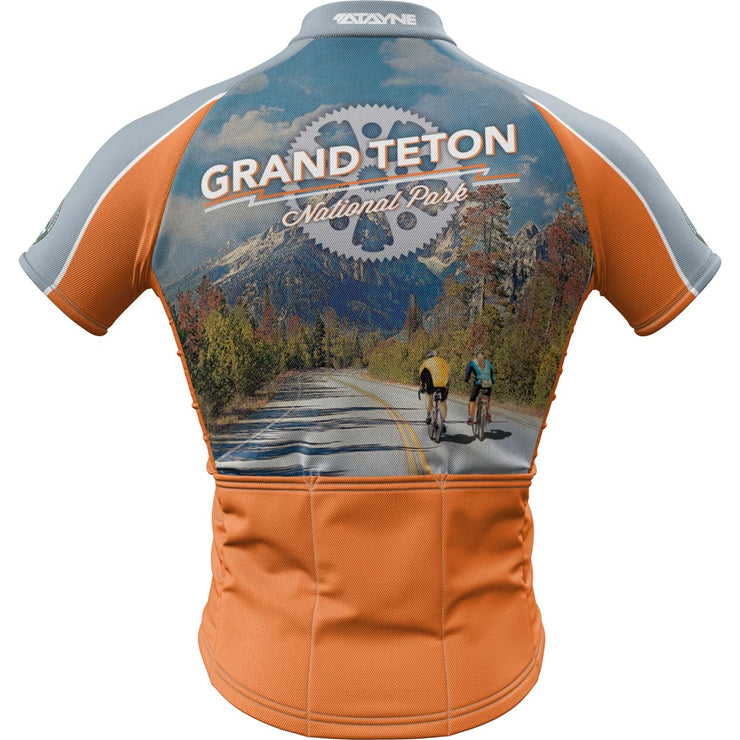 Grand Teton National Park + Mens Short Sleeve REC Cycling Jersey