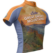 Great Smoky Mountain National Park + Mens Short Sleeve REC Cycling Jersey