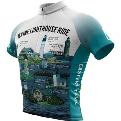 Maine Lighthouse Ride 2016 + Mens Cycling Jersey (ORDER UP IF WANT LOOSER)