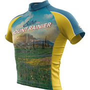 Mount Rainier National Park + Mens Short Sleeve REC Cycling Jersey